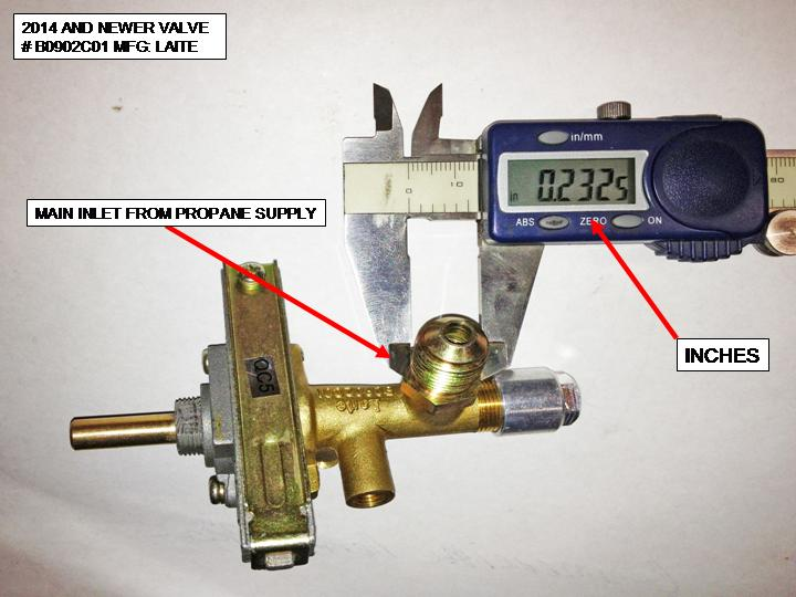 Hiland Natural Gas Control Valve For Ng Ss Heaters Tall