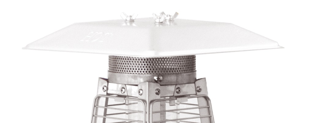 Hiland Table Top Glass Tube Burner Screen Tabletop