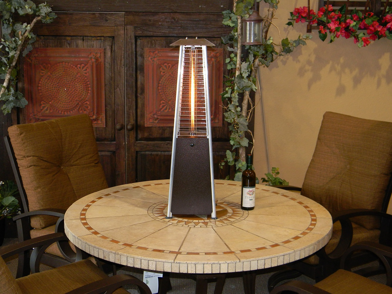 Hiland Table Top Glass Tube Heat Shield Tabletop Heater
