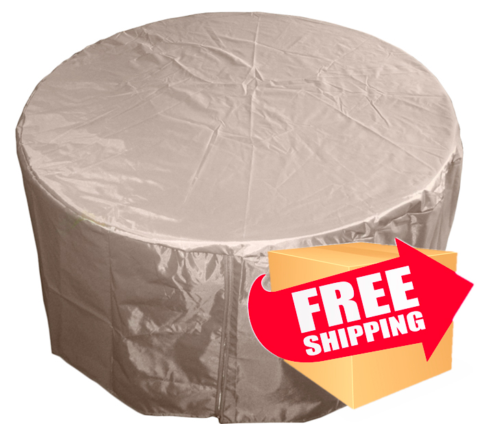 Hiland Round Heavy Duty Waterproof Propane Fire Pit Cover