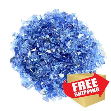 Reflective Fire Glass - Cobalt Blue