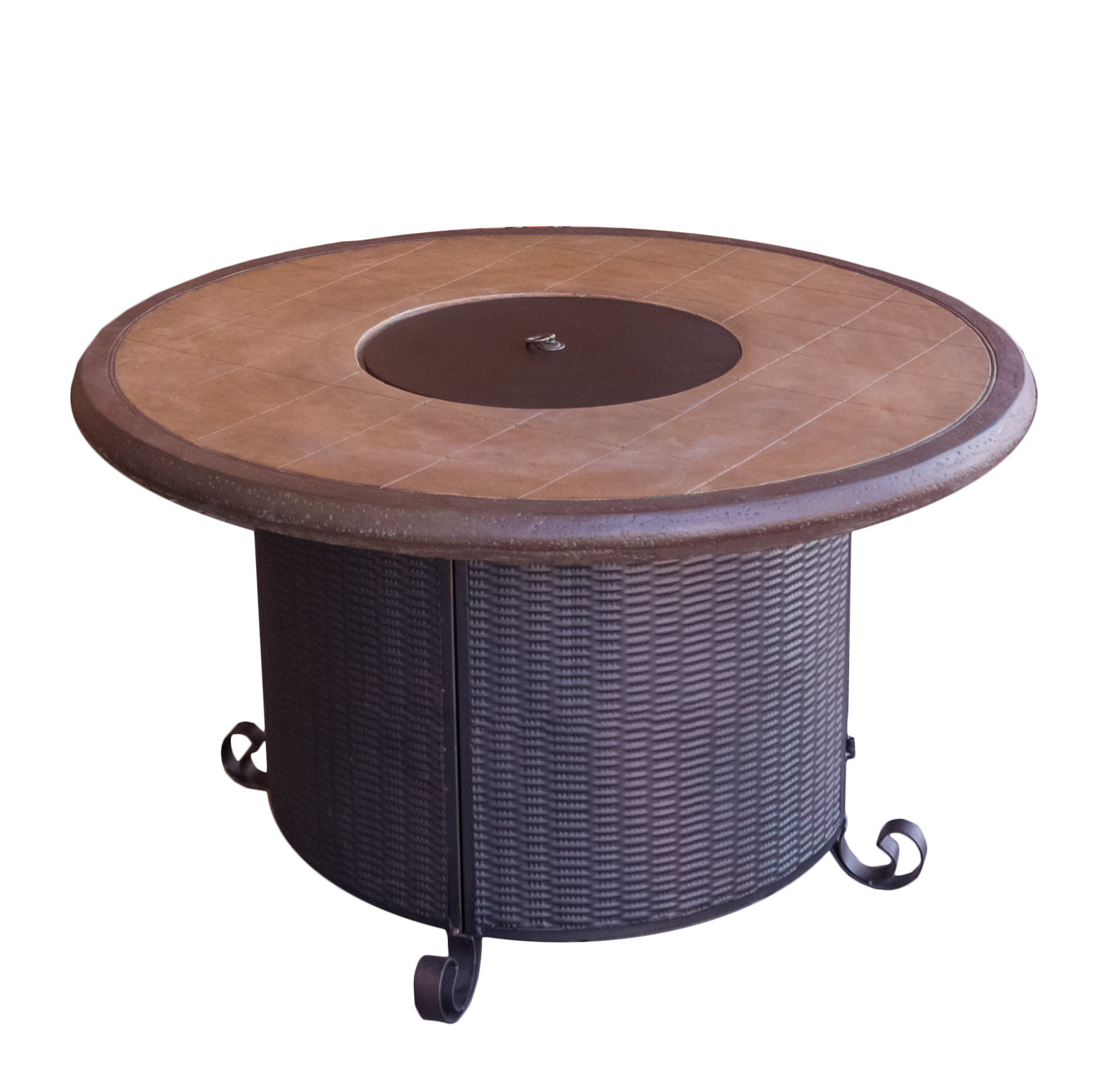 Round Faux Stone Fire Pit