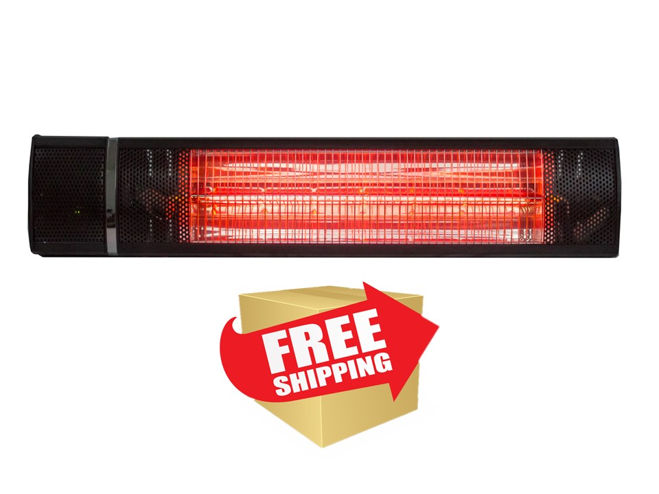 Wall Mount Electric Heater in Black