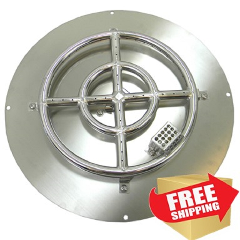 Plug & Play Propane Double Ring Complete Firepit Burner Kit (Ready to use)