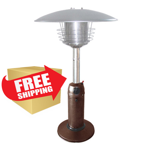 Outdoor Tabletop Patio Heater - Hammered Bronze Finish