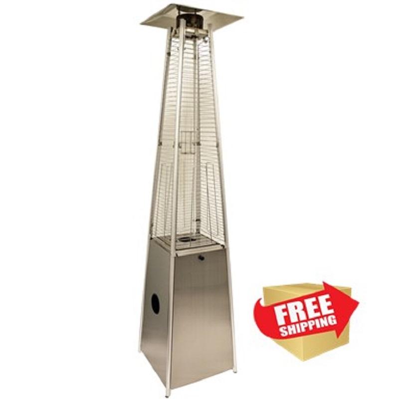 Tall Quartz Glass Tube Heater - Stainless Steel
